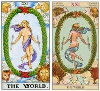 塔罗牌世界正位代表的爱