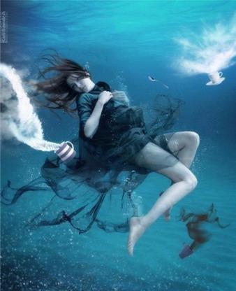 夢見掉到水里