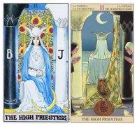 塔罗牌女祭司正逆位爱情