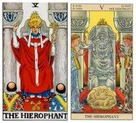 塔罗牌教皇正位爱情含义是什么,逆位如何解读?