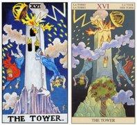 塔罗牌高塔正位在爱情中
