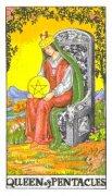 塔罗牌星币皇后正位事业分析,逆位是什么意思?
