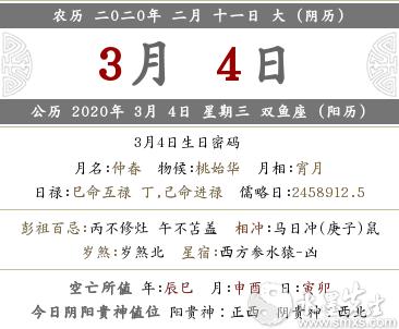 2020年农历二月十一喜神方位解析(图文)